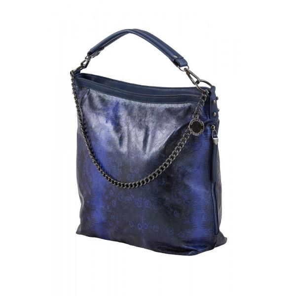 Grote Tas Geblokt : Grote tas blauw slangenprint zo tassen